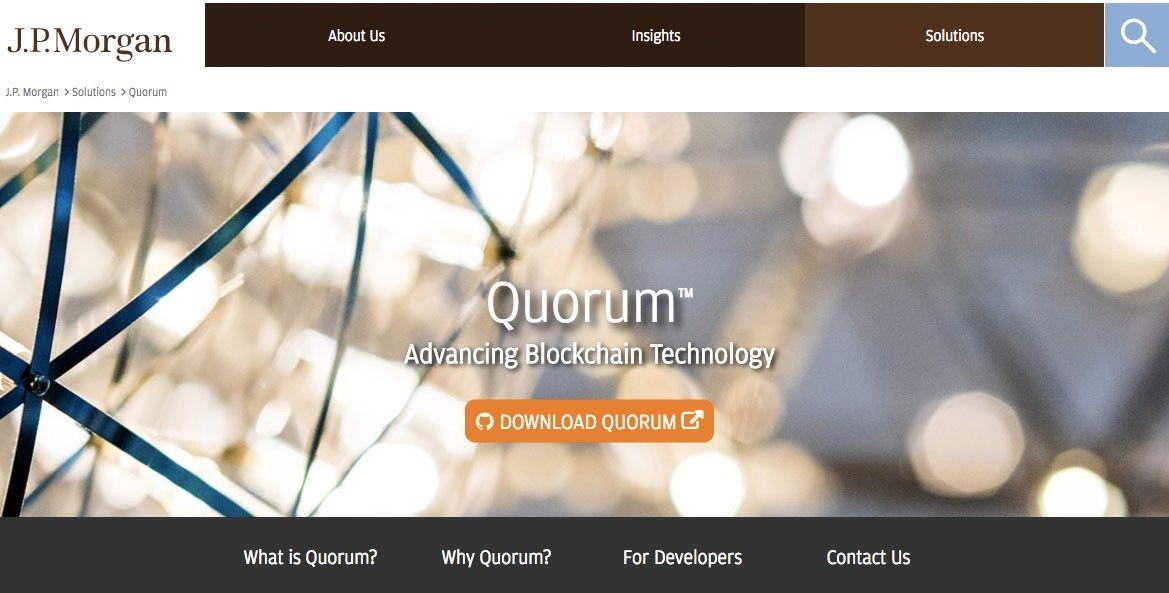 摩根大通準備分拆其區塊鏈項目Quorum
