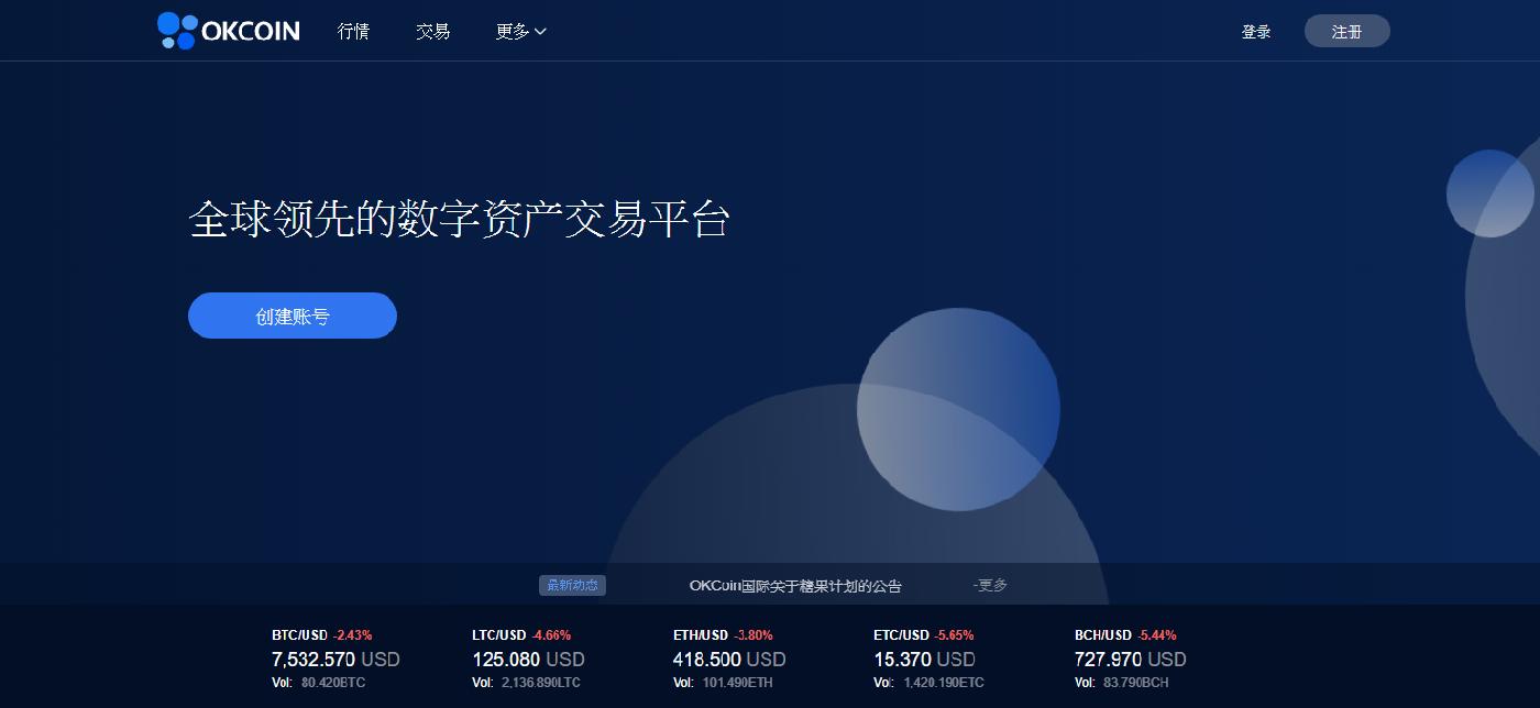 OKCoin中國週五發出多項聲明,指已與OKex分離