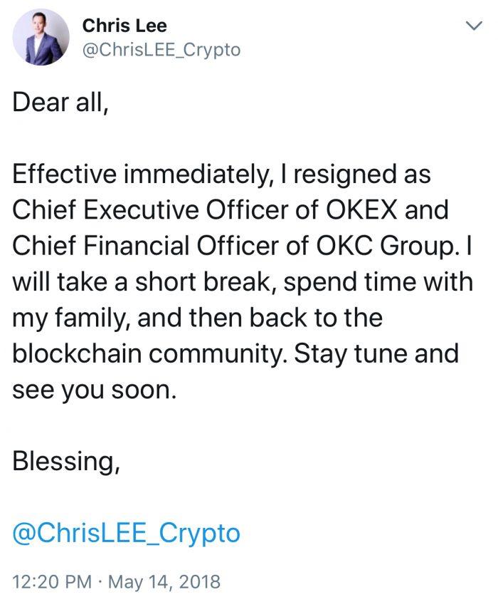 加密貨幣交易所Huobi從主要競爭對手OKEx中挖走首席執行官