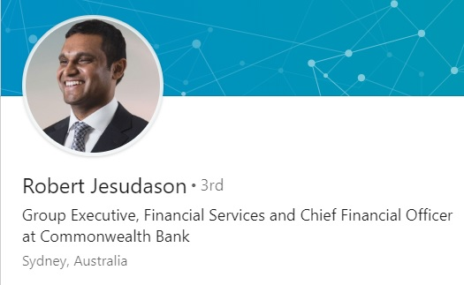 PR:澳大利亞聯邦銀行首席財務官Rob Jesudason加入Block.one成為集團總裁及首席營運官