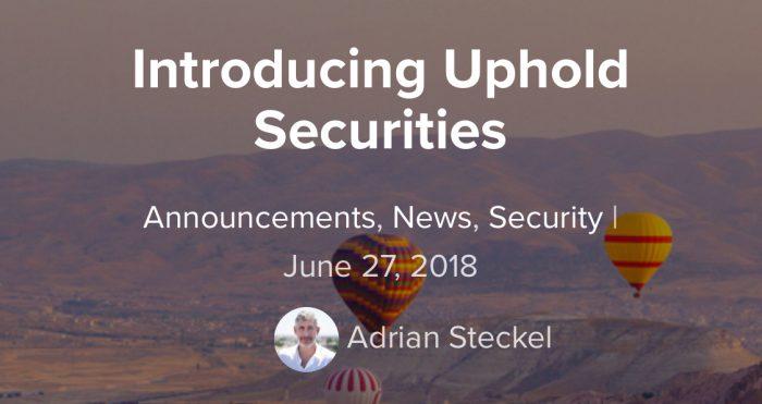 Uphold宣佈將啟動證券部門上架ICO代幣