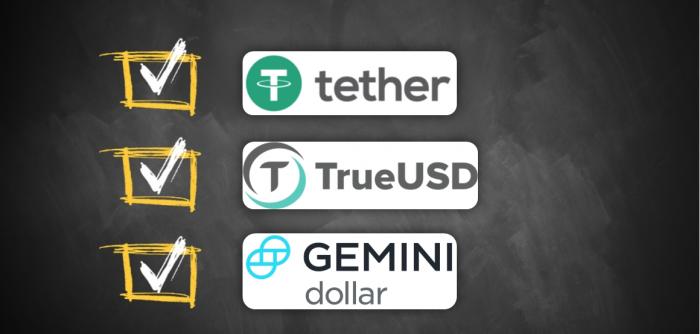 穩定幣GUSD、USDT和TUSD,你需要知道的都在這裡