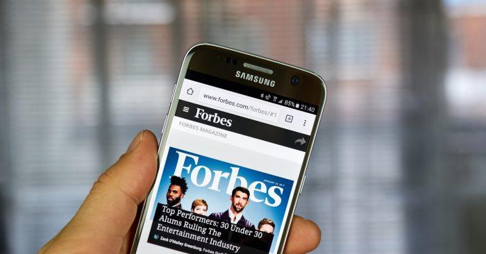 福布斯準備將全部內容轉移至區塊鏈平台