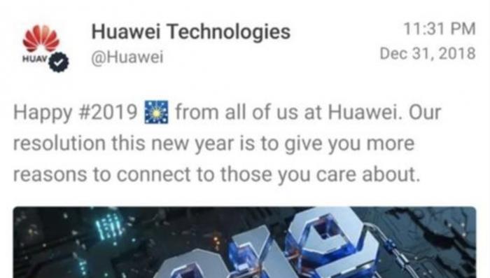 快訊 | 華為官方Twitter用iPhone發慶祝新年推文