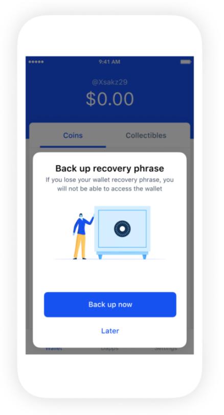 Coinbase錢包可於Google Drive和iCloud上備份私鑰