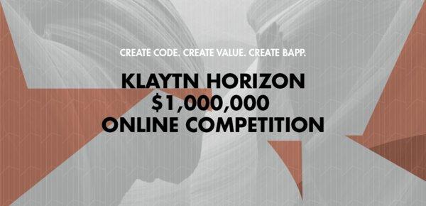 Klaytn Horizon獎金達100萬美元的在線競賽