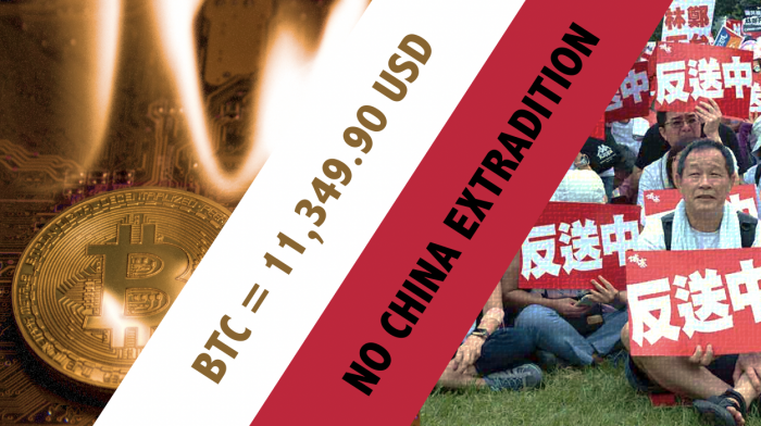 香港政府強推【逃犯條例】引發避險潮 比特幣14天內升42%