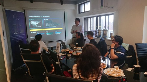 IBM 台灣公司吳顯忠顧問於會中分享 IBM 的公有雲服務技術