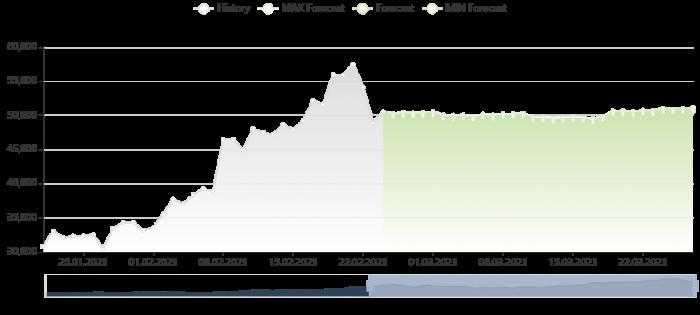 比特幣價格預測 24/2/2021