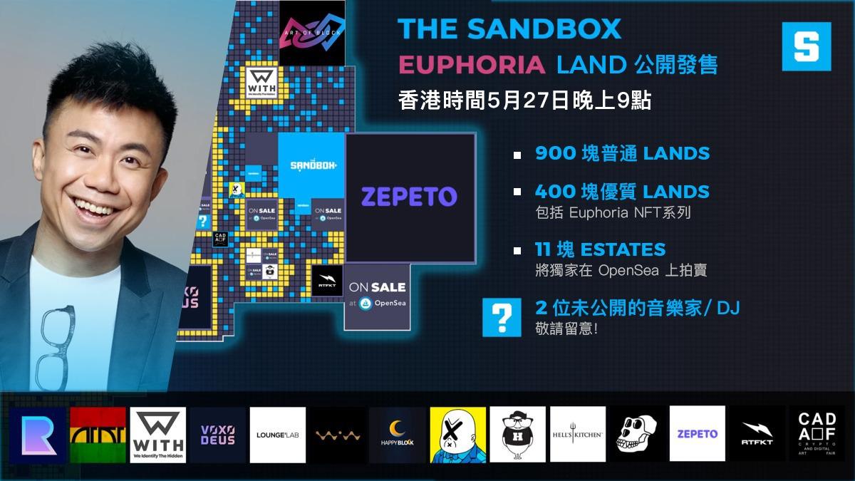 陳奐仁登陸Sandbox! 2021年5月土地出售:Euphoria!